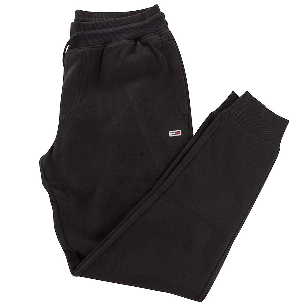 Slim Fleece Sweatpants in Black