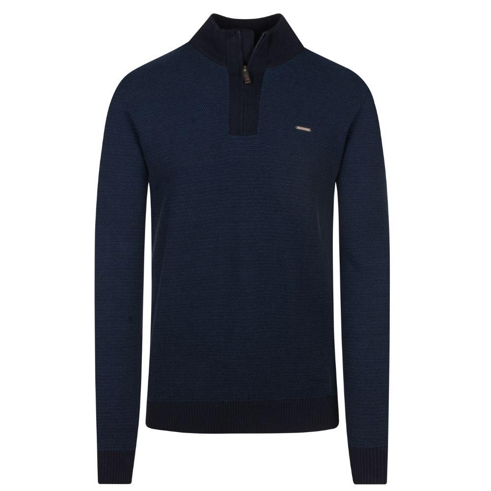 Frank Half Zip in Blue