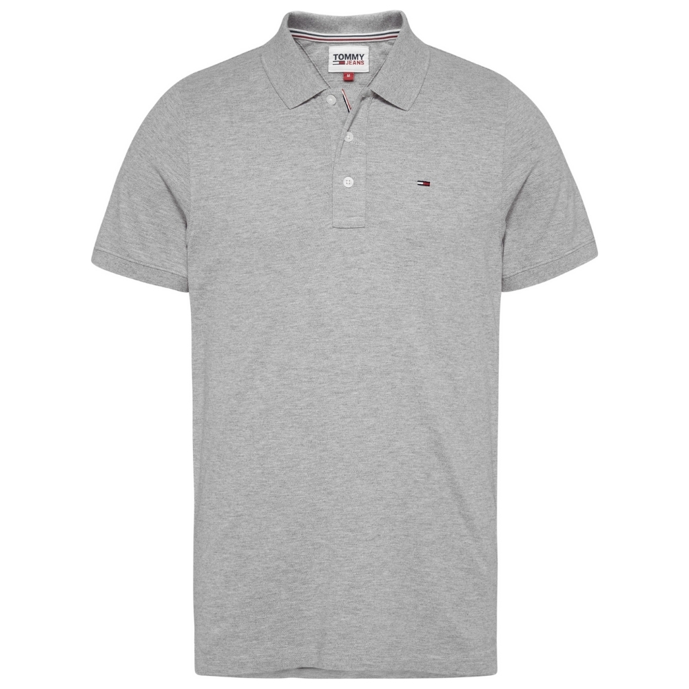 Tommy Fine Polo Shirt in Grey