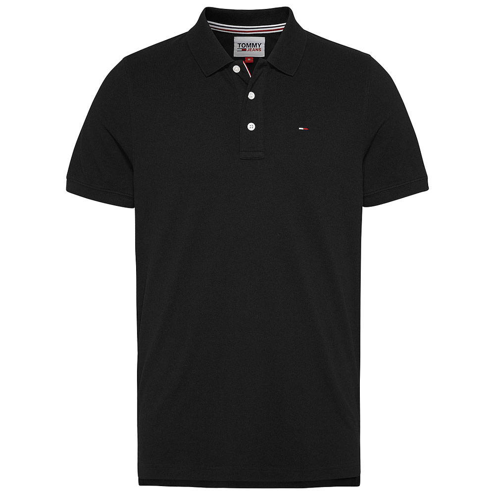 Tommy Fine Polo Shirt in Black
