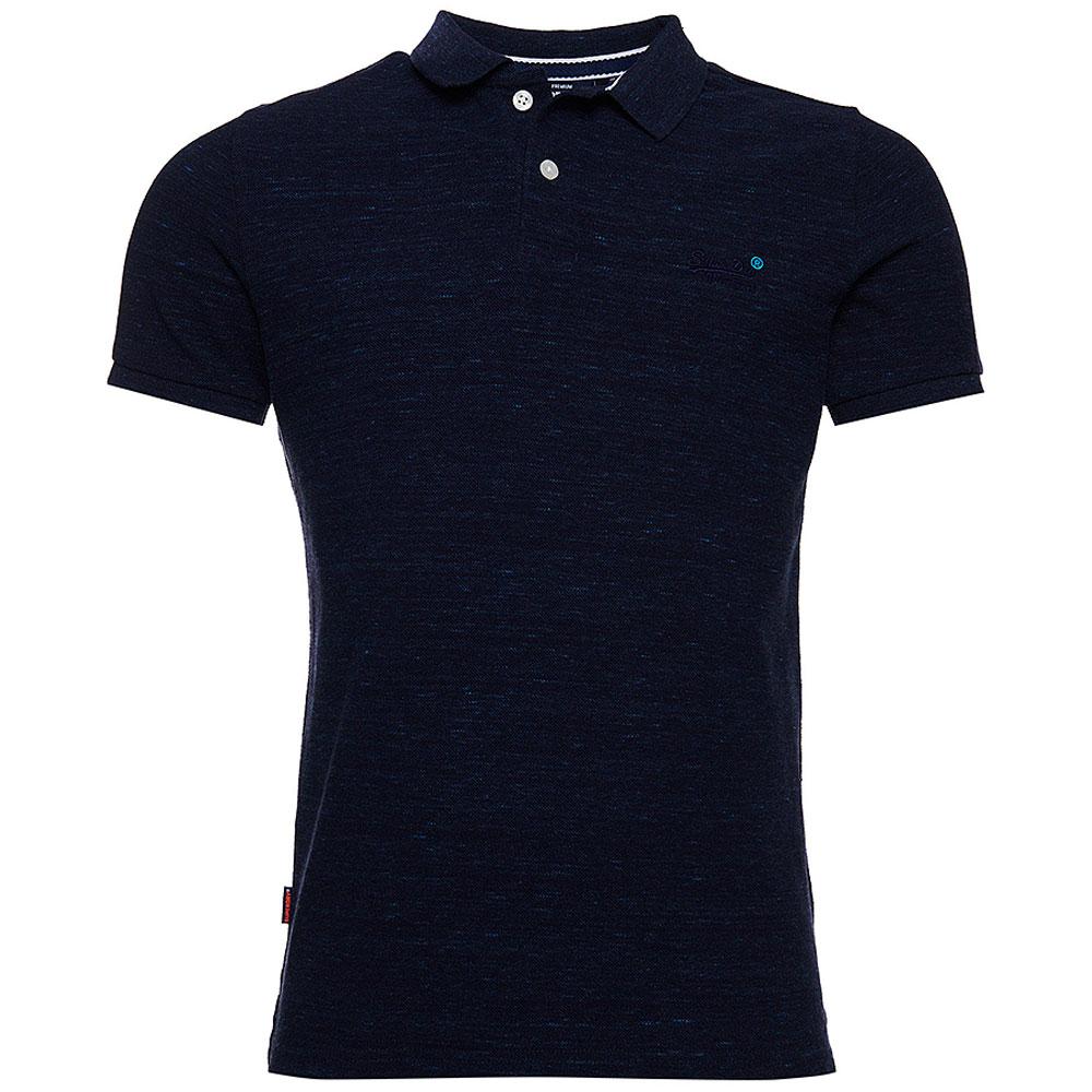 Classic Pique Polo Shirt in Navy