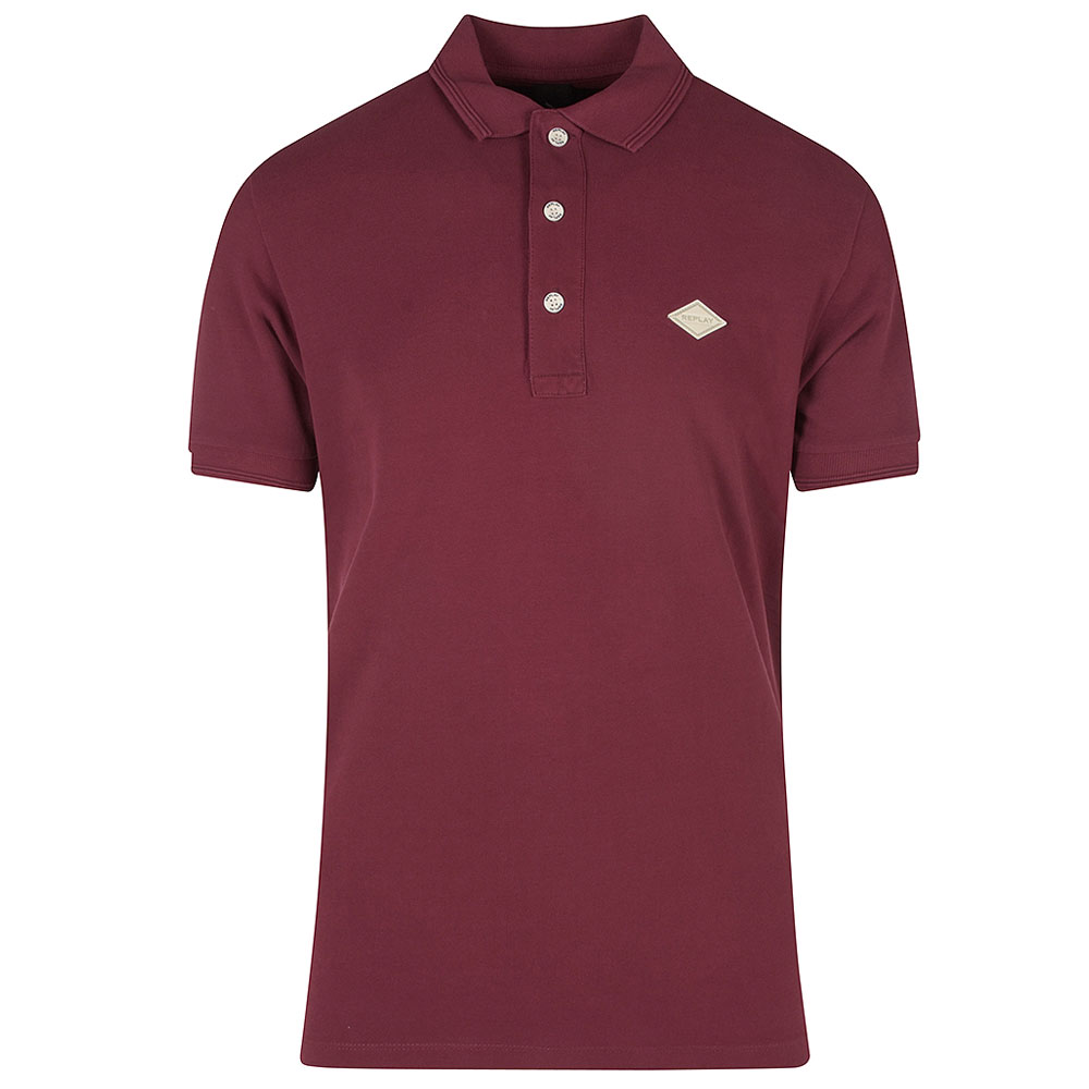 Replay Polo in Burgundy
