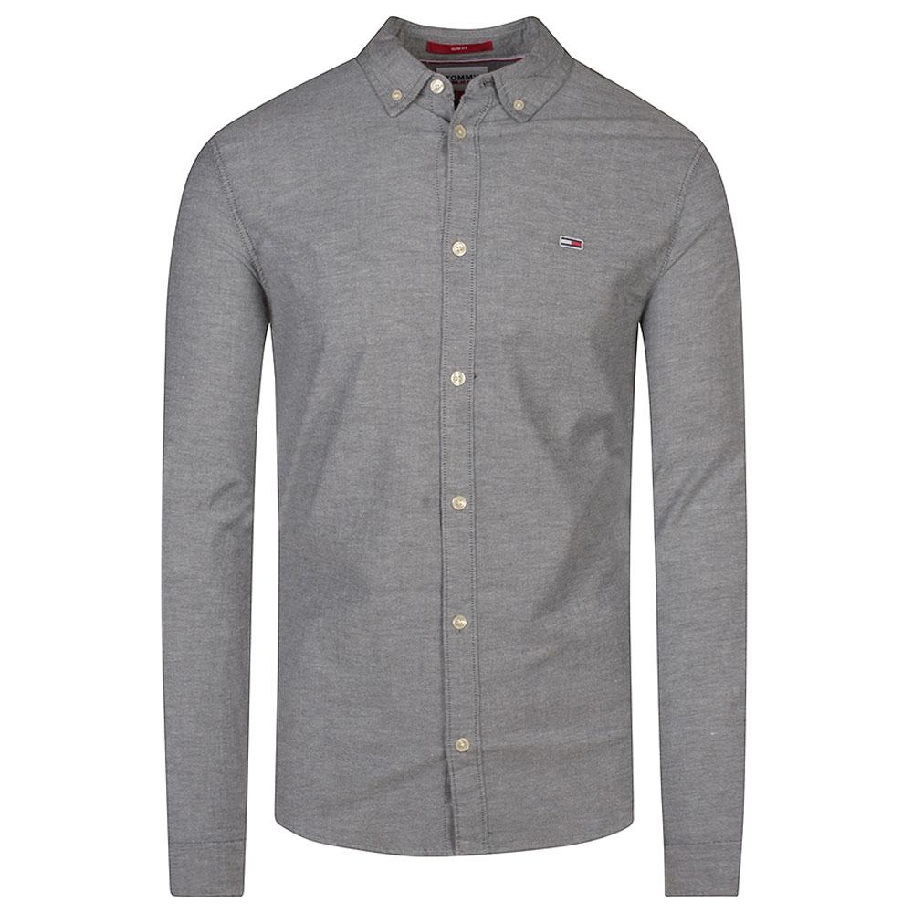 Slim Stretch Oxford Shirt in Black