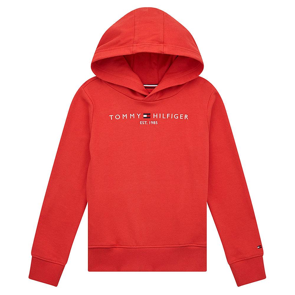 Kids Essential Hoodie in Red