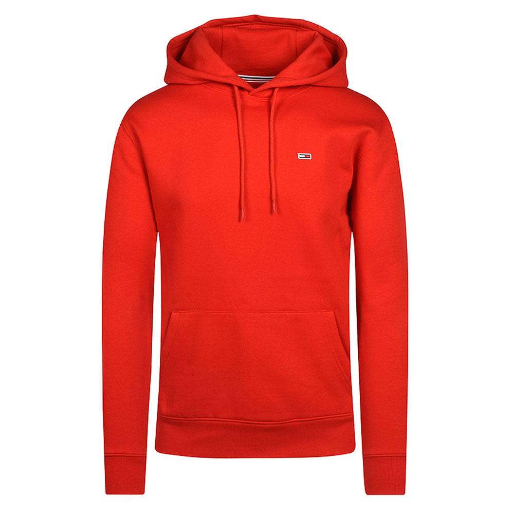 Fleeced Zip Hood in Red