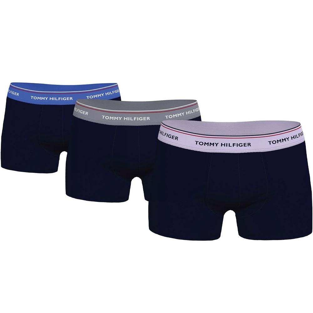 3 Pack Boxer Short Trunks in Blue