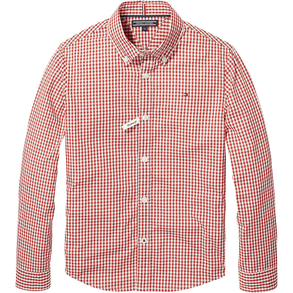 Kids Gingham Shirt in Red