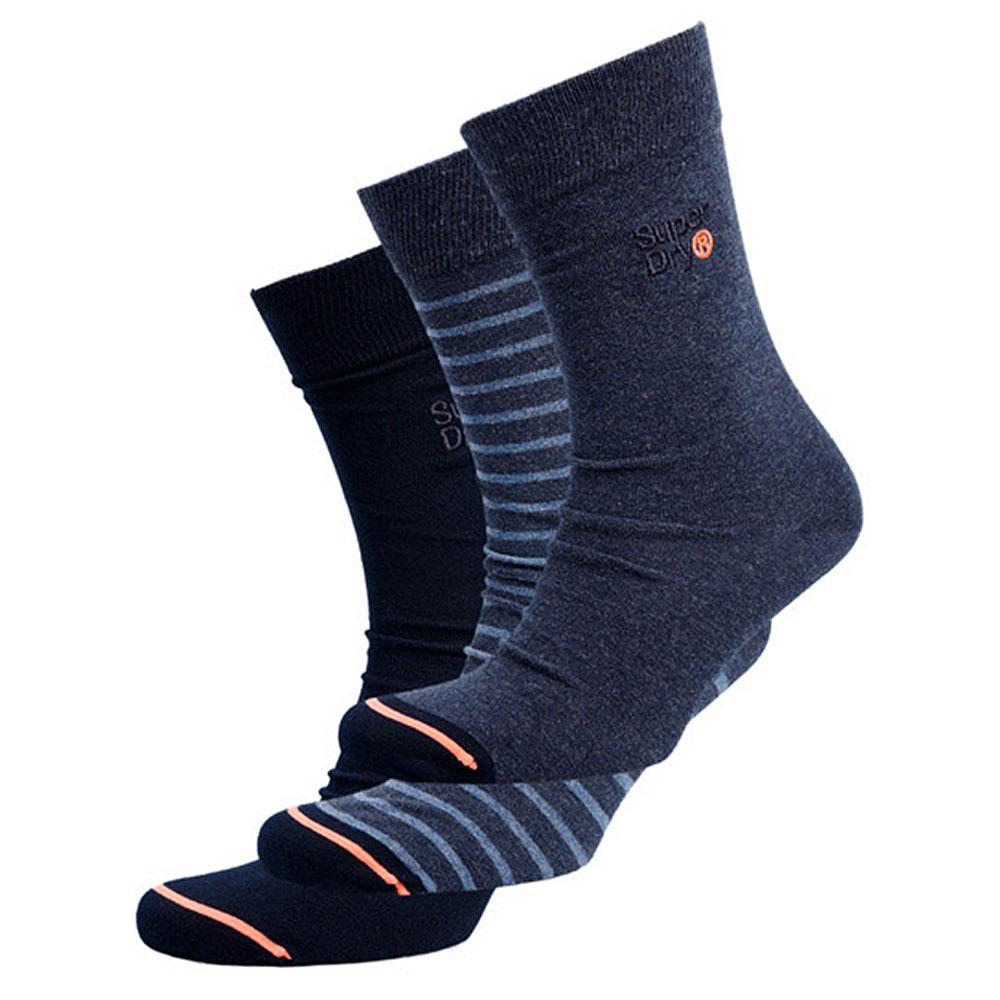 City Sock Triple Pack in Indigo