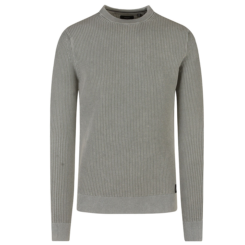 Academy Dyed Crew Sweater in Grey