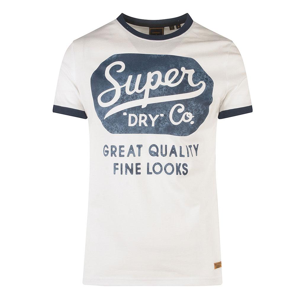 Workwear Ringer T-Shirt in White