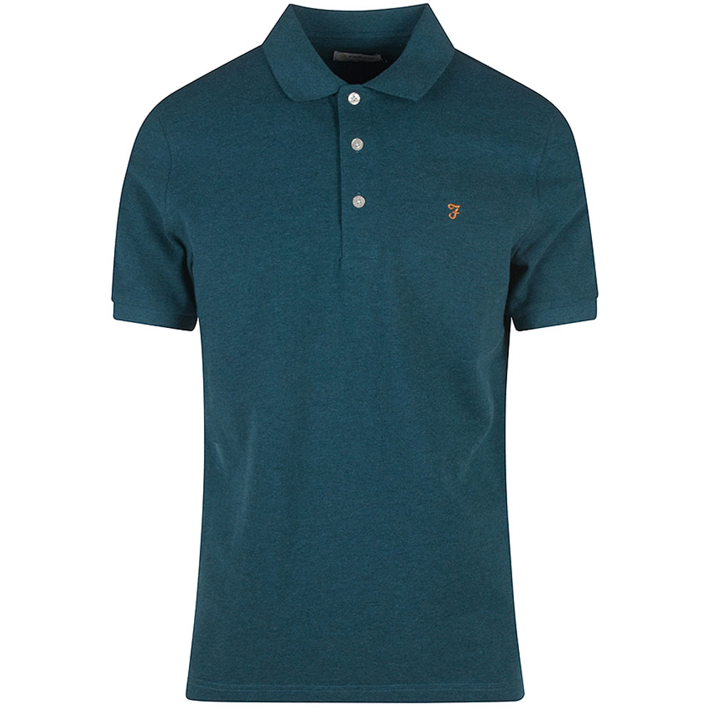Blanes SS Polo Shirt in Turquoise