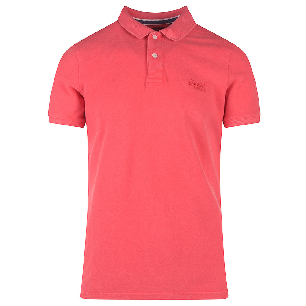 Vintage Destroyed Poloshirt in Red