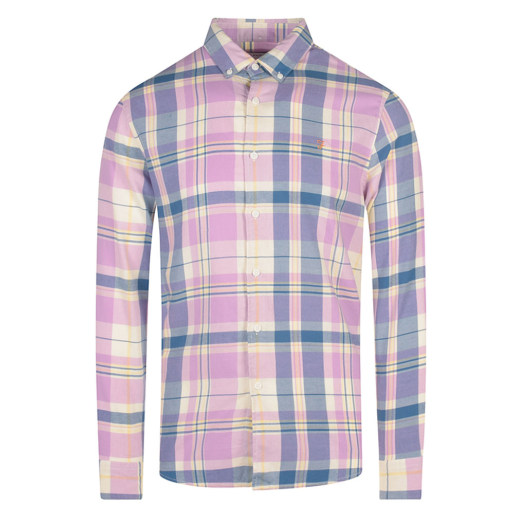 Clayton Checked Shirt in Pink