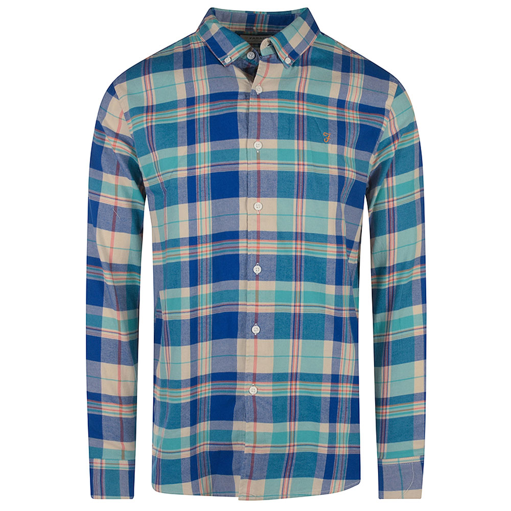 Clayton Checked Shirt in Blue