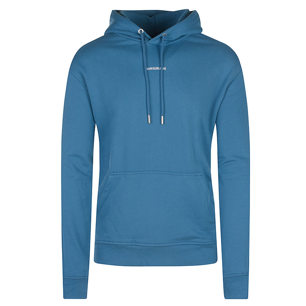 Micro Branding Hoodie in Turquoise