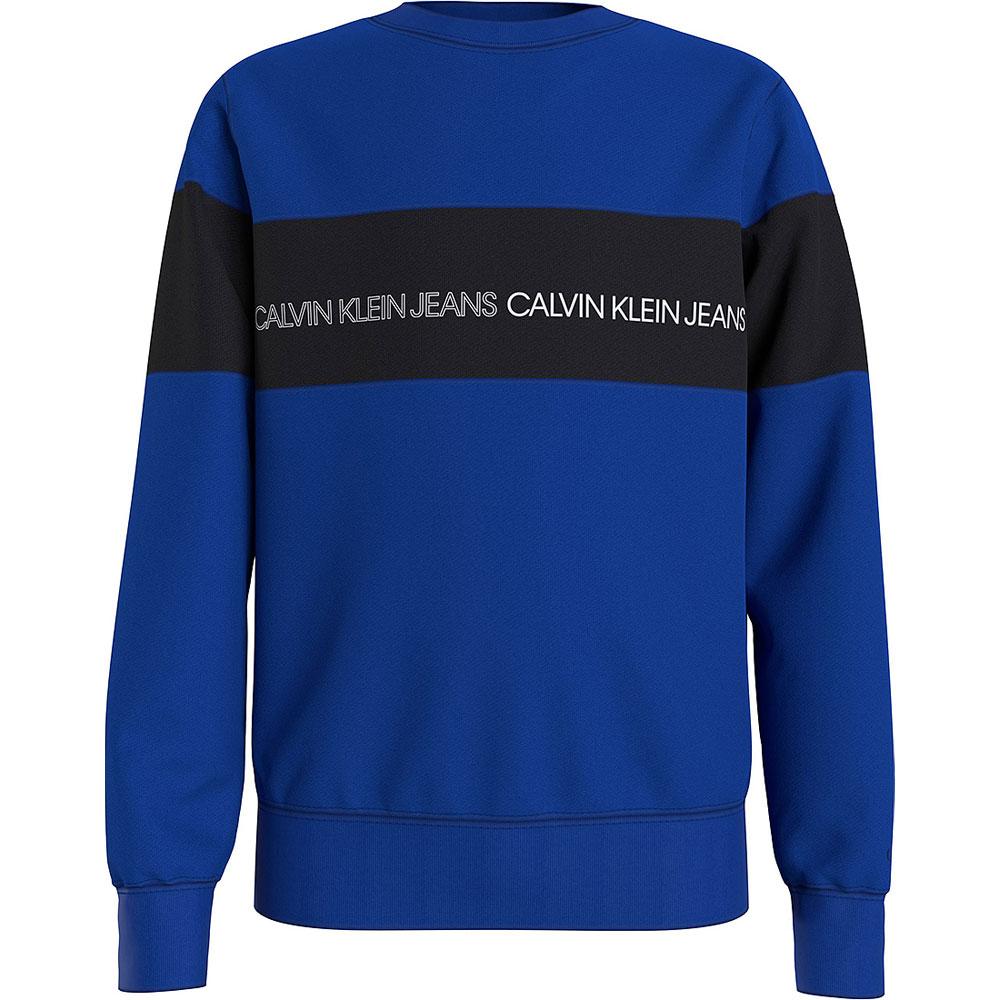 Colour Block Sweatshirt in Blue