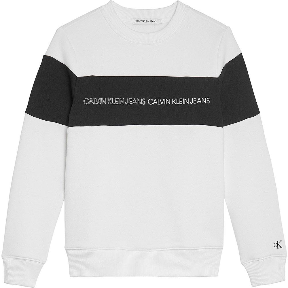 Colour Block Sweatshirt in White