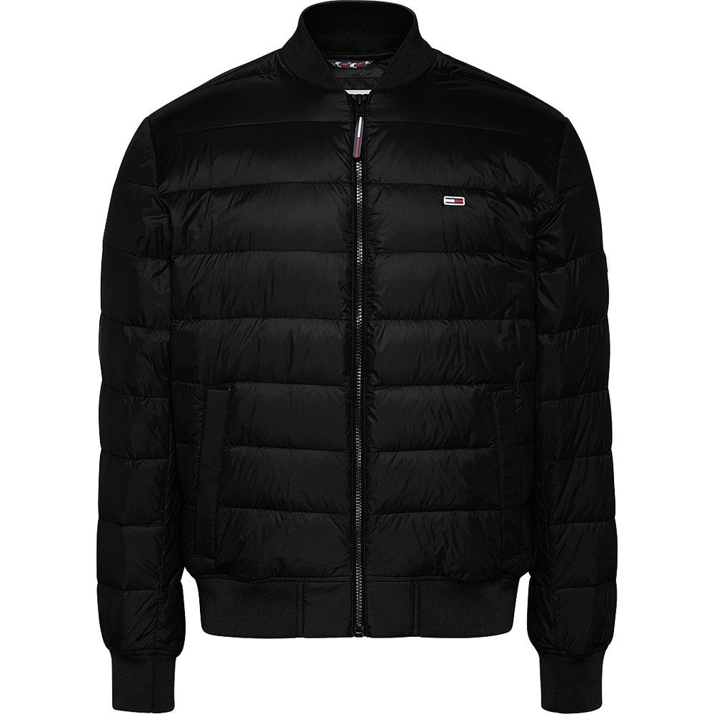 Light Down Bomber Jacket in Black