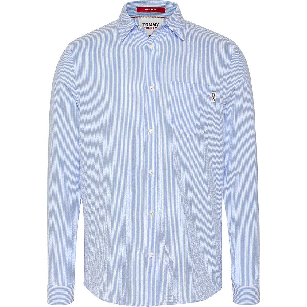 Seersucker Stripe Shirt in Blue