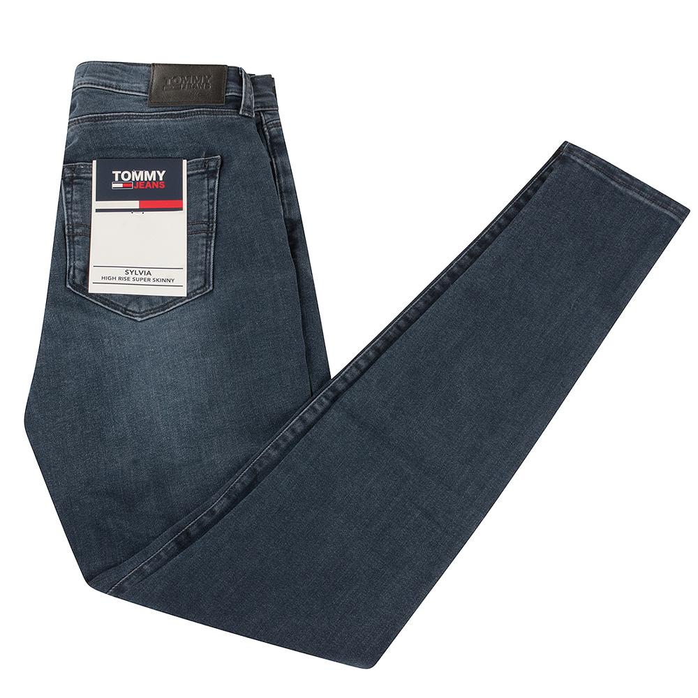 Sylvia Spray Skinny Jeans in Black