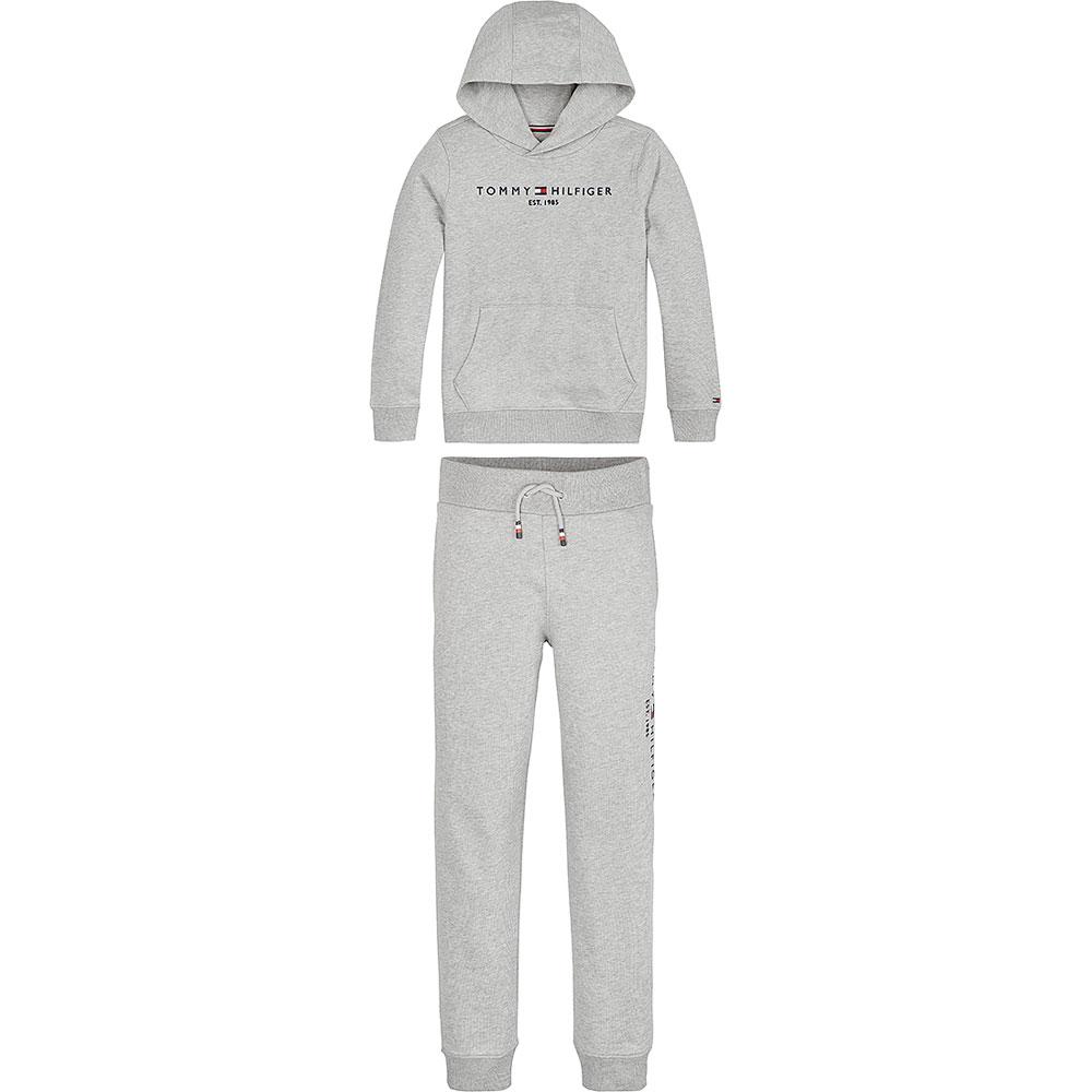Essential Hooded Tracksuit Set in Grey