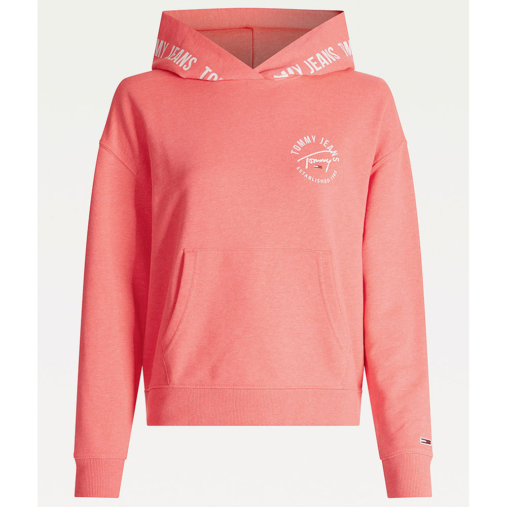 Boxy Hooded Top in Pink