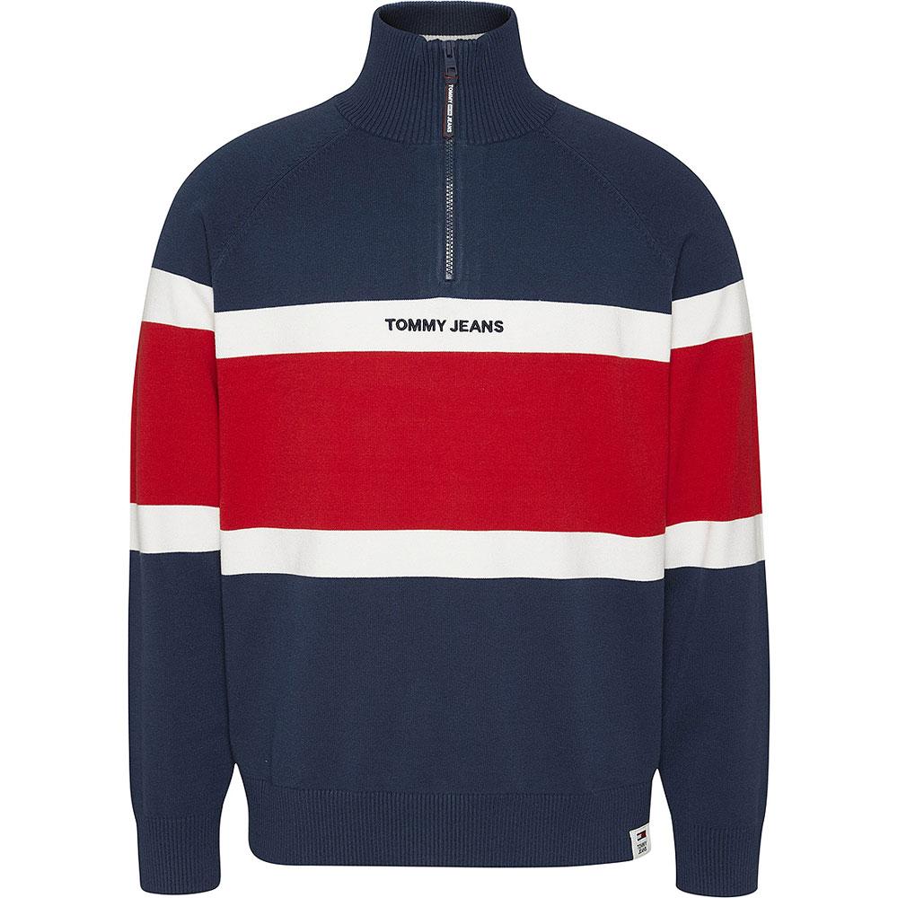 Colorblock Sweatshirt in Navy