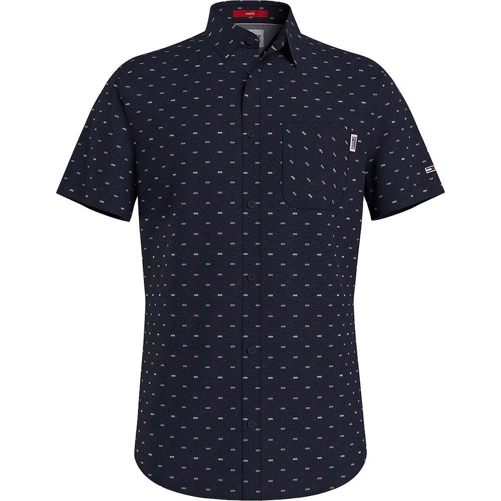 Short Sleeve Dobbin Shirt in Navy