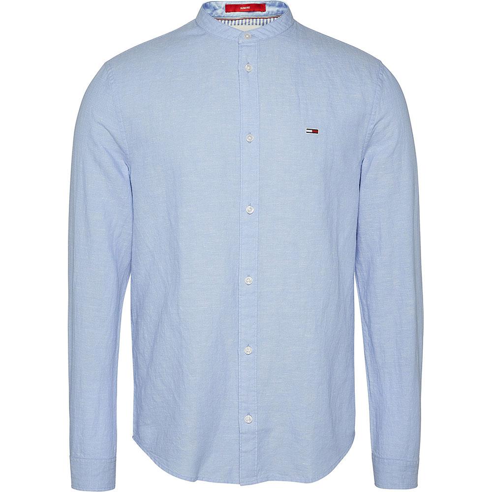 Linen Blend Shirt in Lt Blue