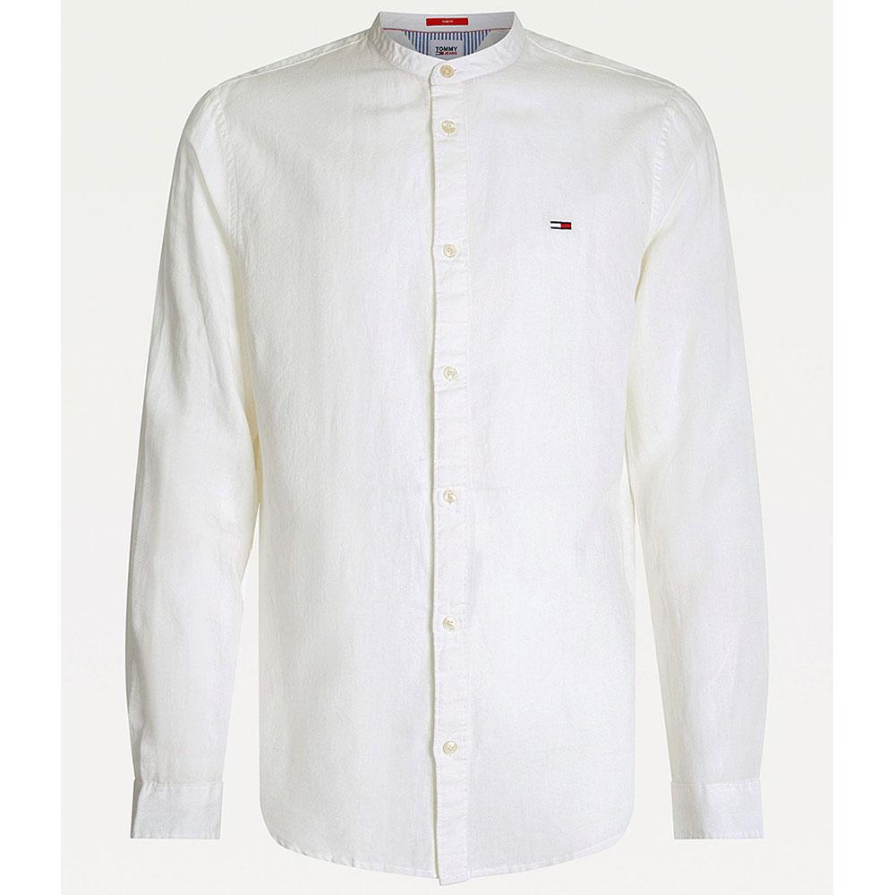 Linen Blend Shirt in White
