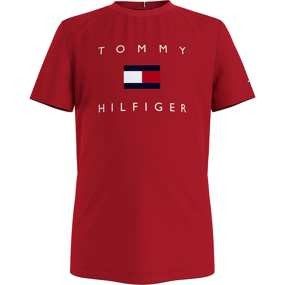 Hilfiger Logo T-Shirt in Red