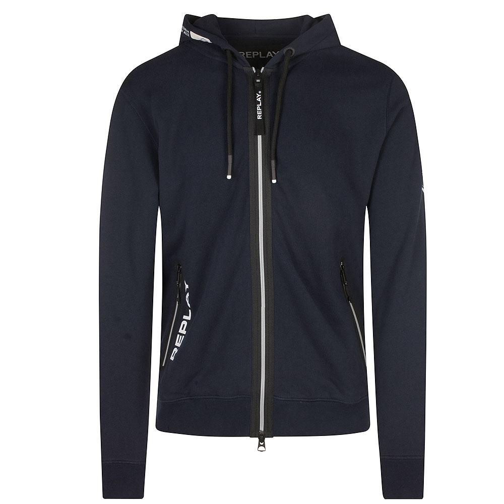 Replay Zipped Sweatshirt in Navy