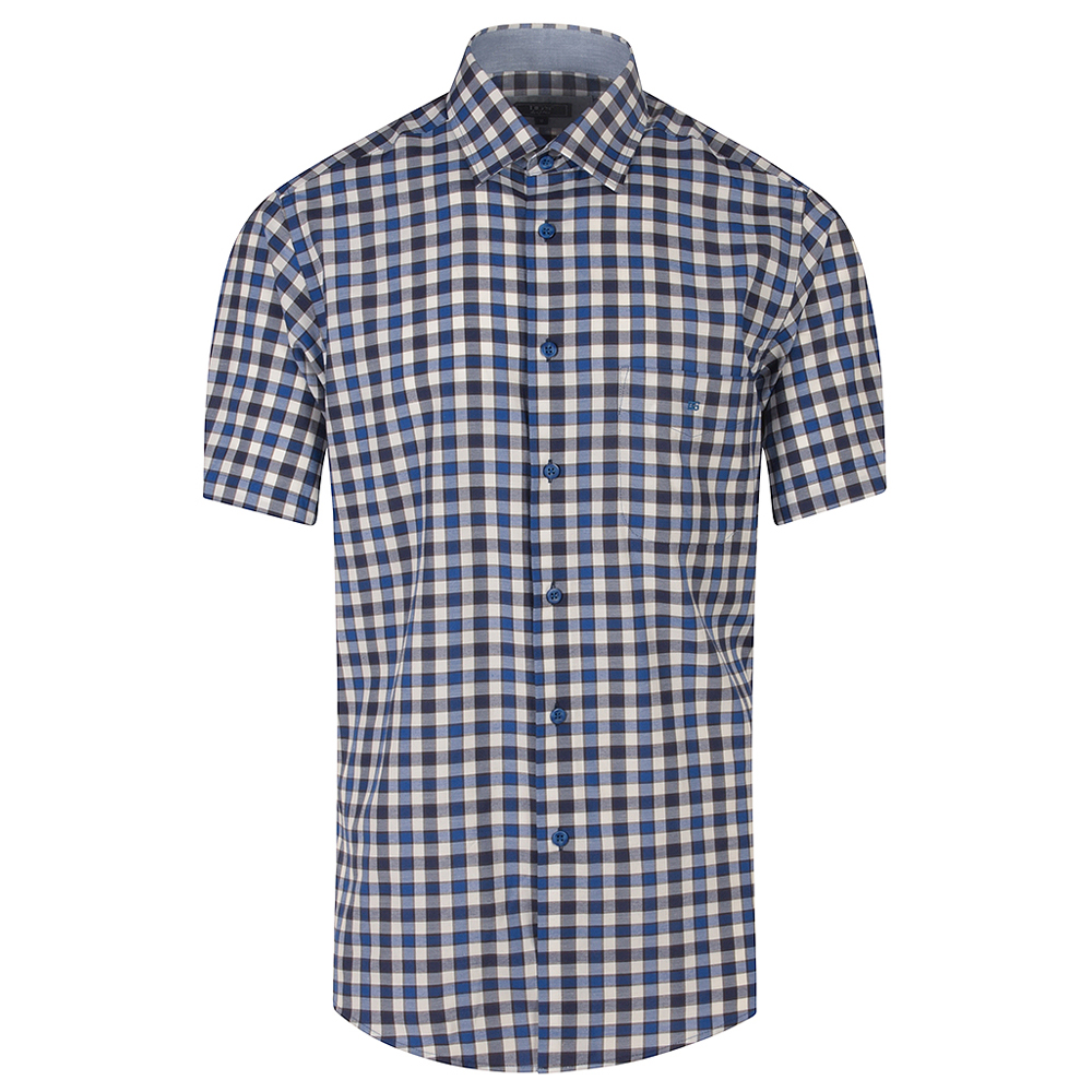 Geneva Half Sleeve Shirt in Blue