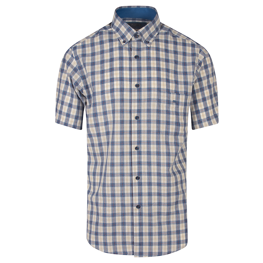 Ivano Half Sleeved Shirt in Blue