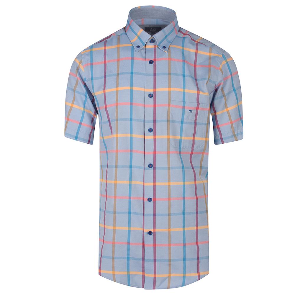 Ivano Half Sleeve Shirt in Blue
