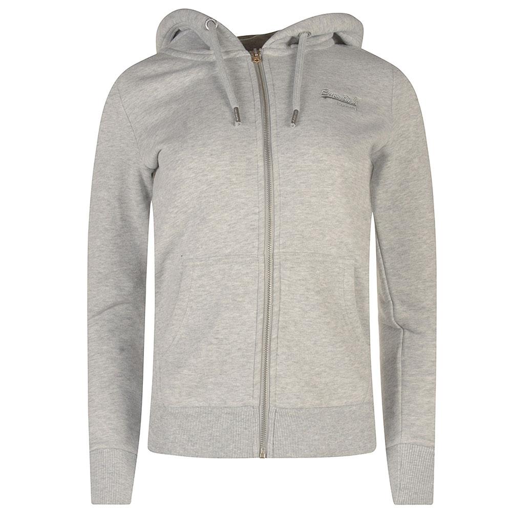 Classic Zip Hood in Lt Grey