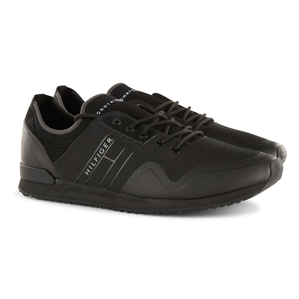 Sock Knit Trainers in Black