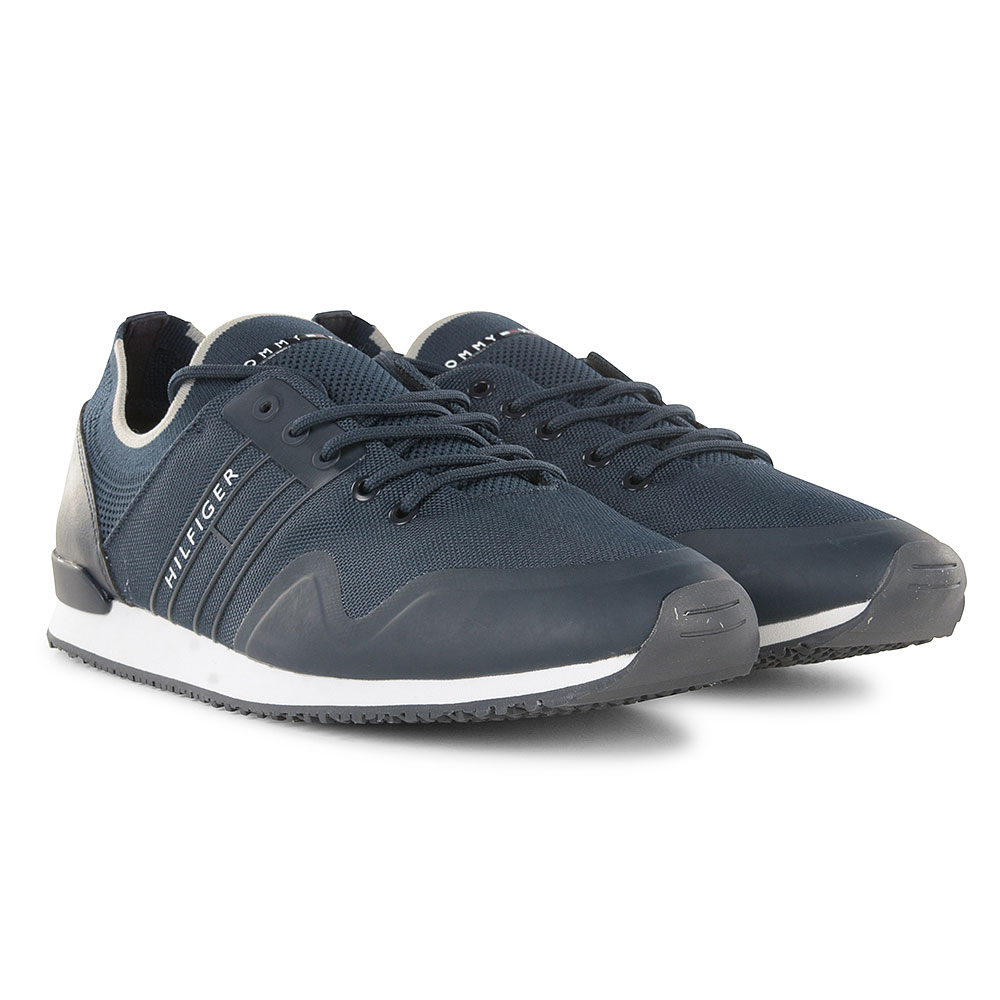 Sock Knit Trainers in Navy