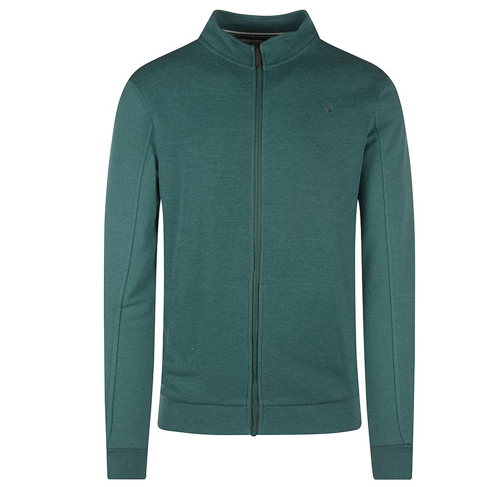 Oliver Zip Sweatshirt in Green