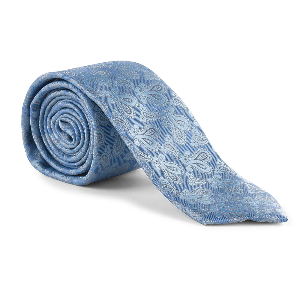 TIE AND POCKET SQUARE in Lt Blue