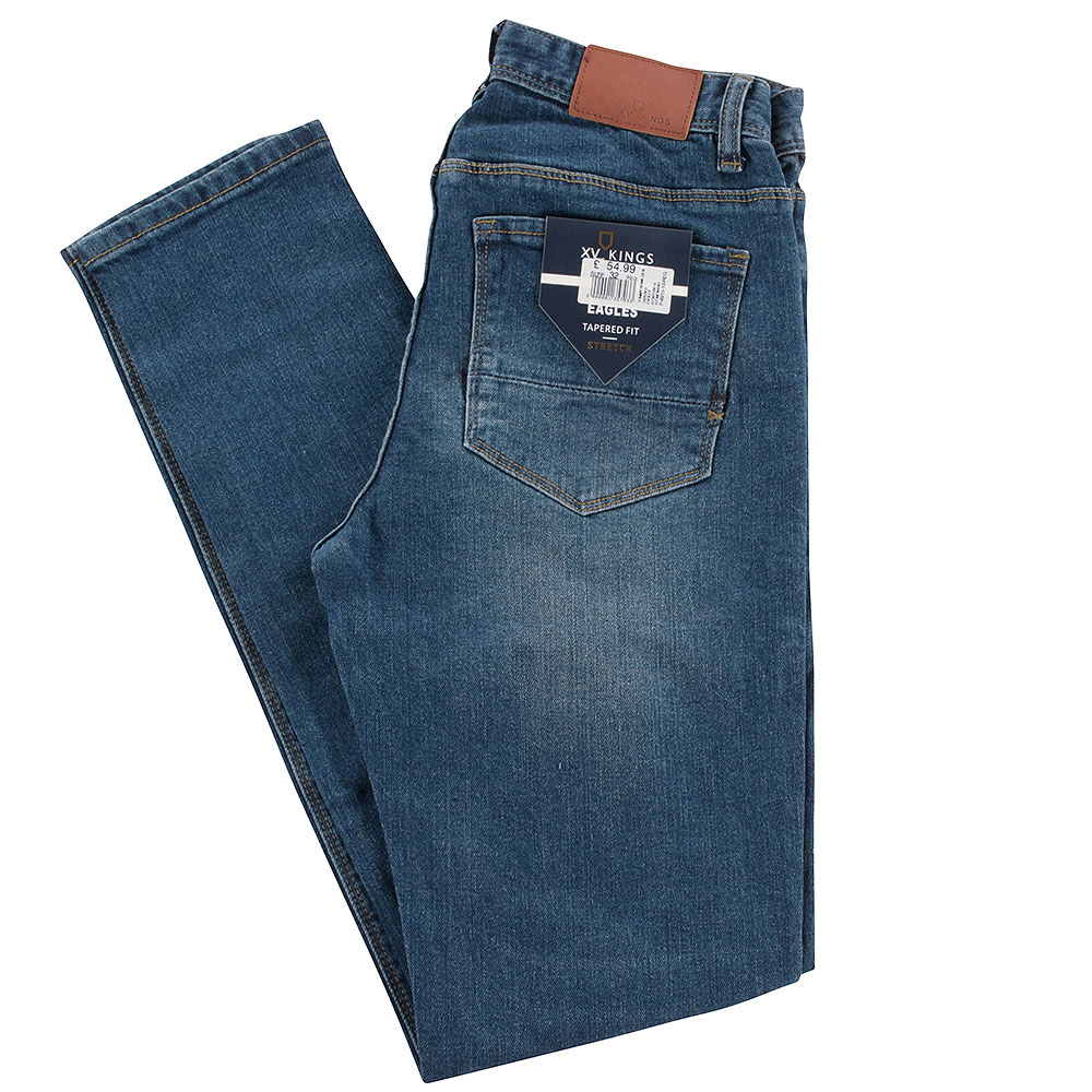 Eagles Tapered Jeans in Stonewash