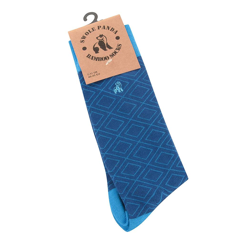 Blue Diamond Sock in Blue