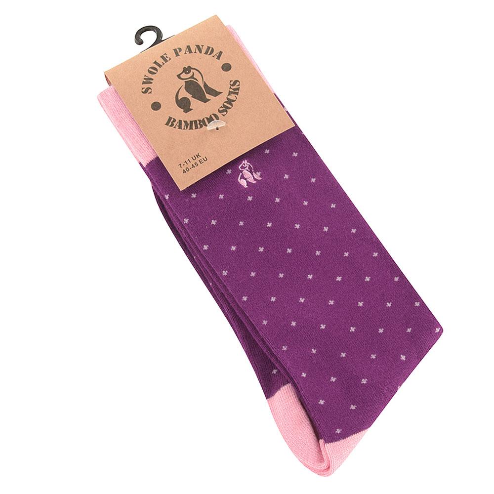 Spotted Sock in Purple