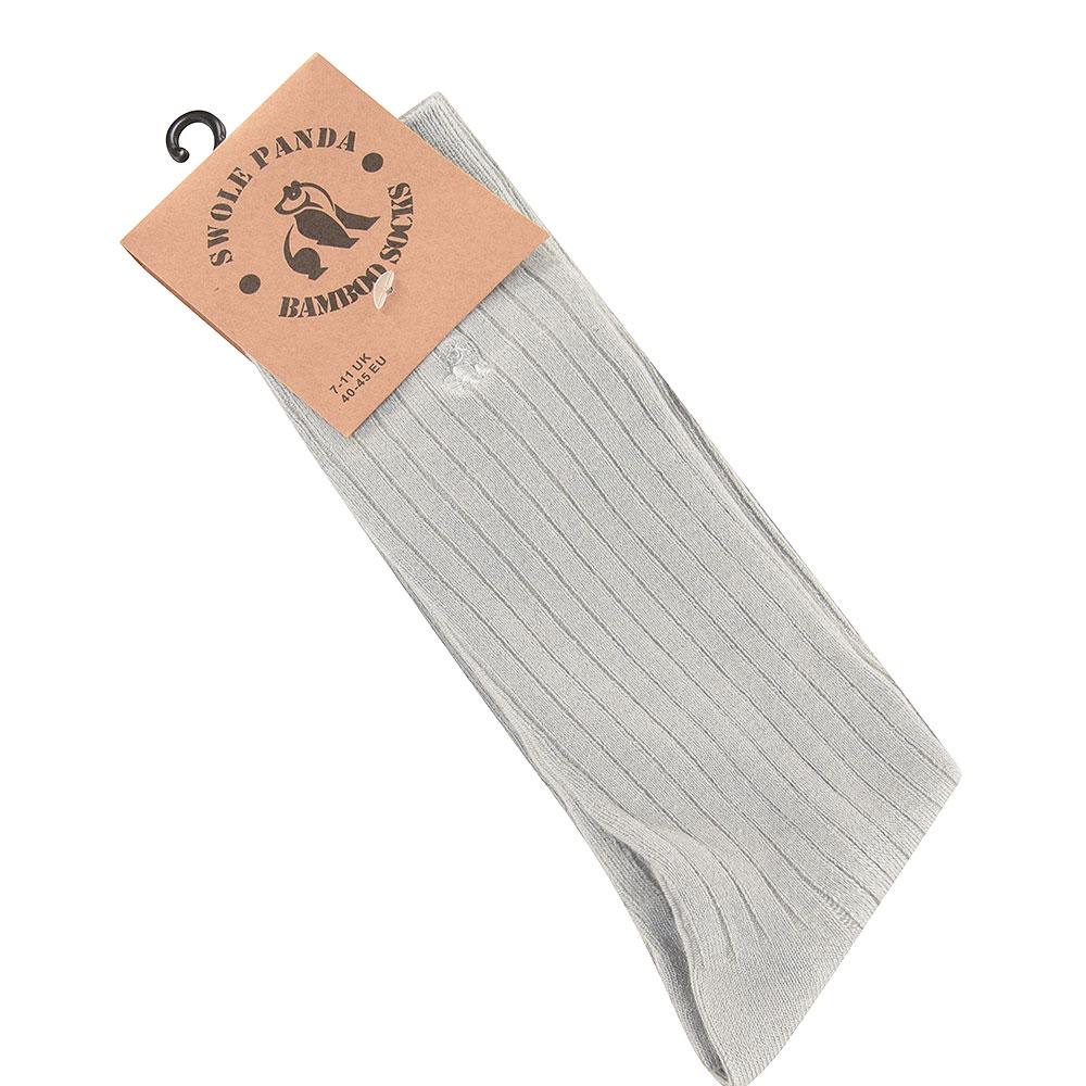 Ribbed Socks in Lt Grey