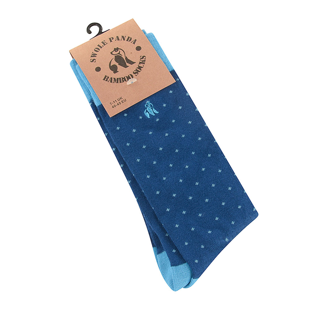 Spotted Socks in Blue
