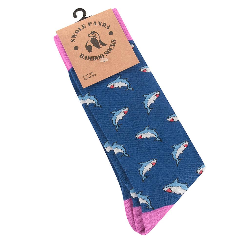 Shark Socks in Blue