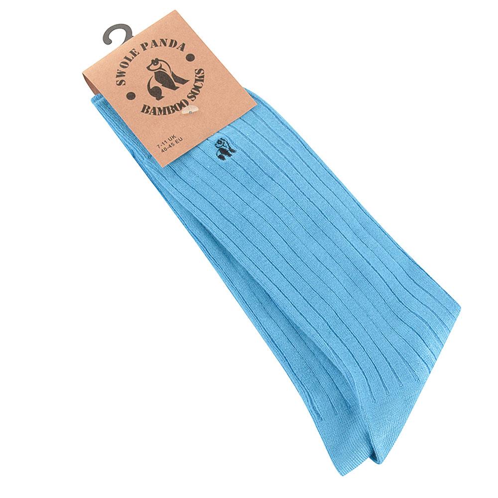 Ribbed Socks in Lt Blue
