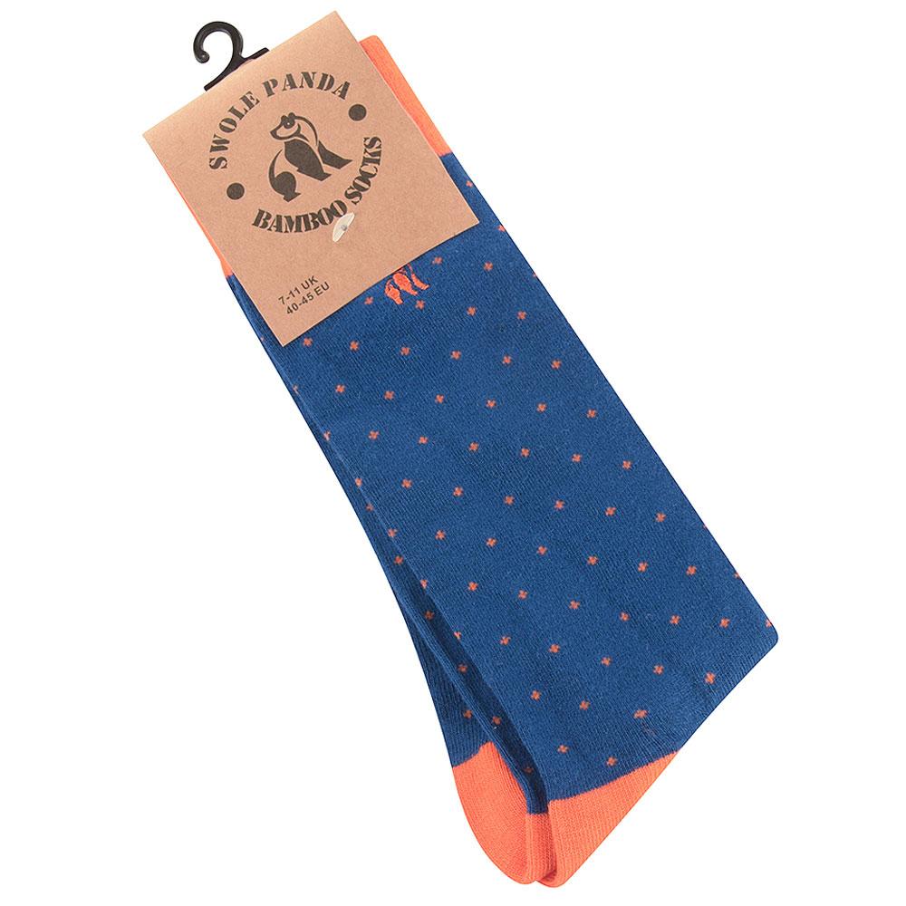 Spotted Socks in Orange