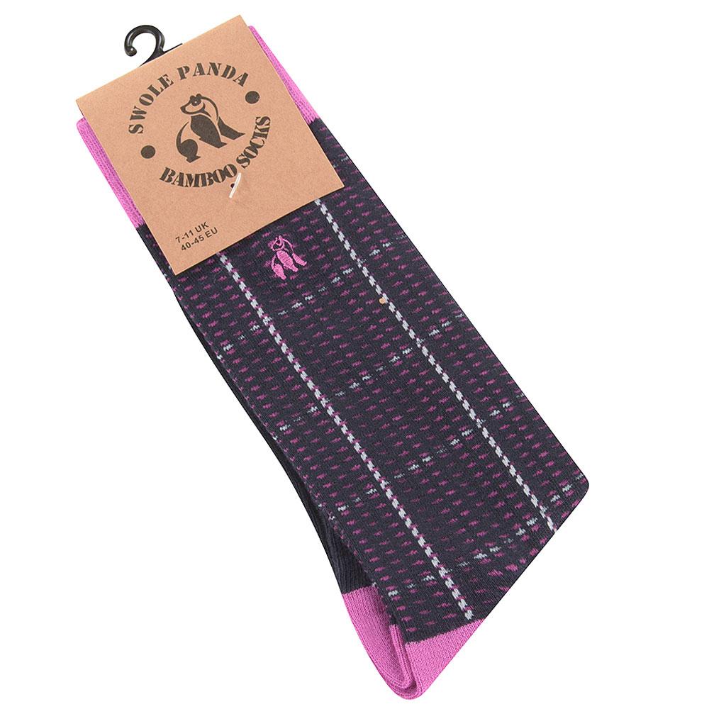 Check Socks in Pink
