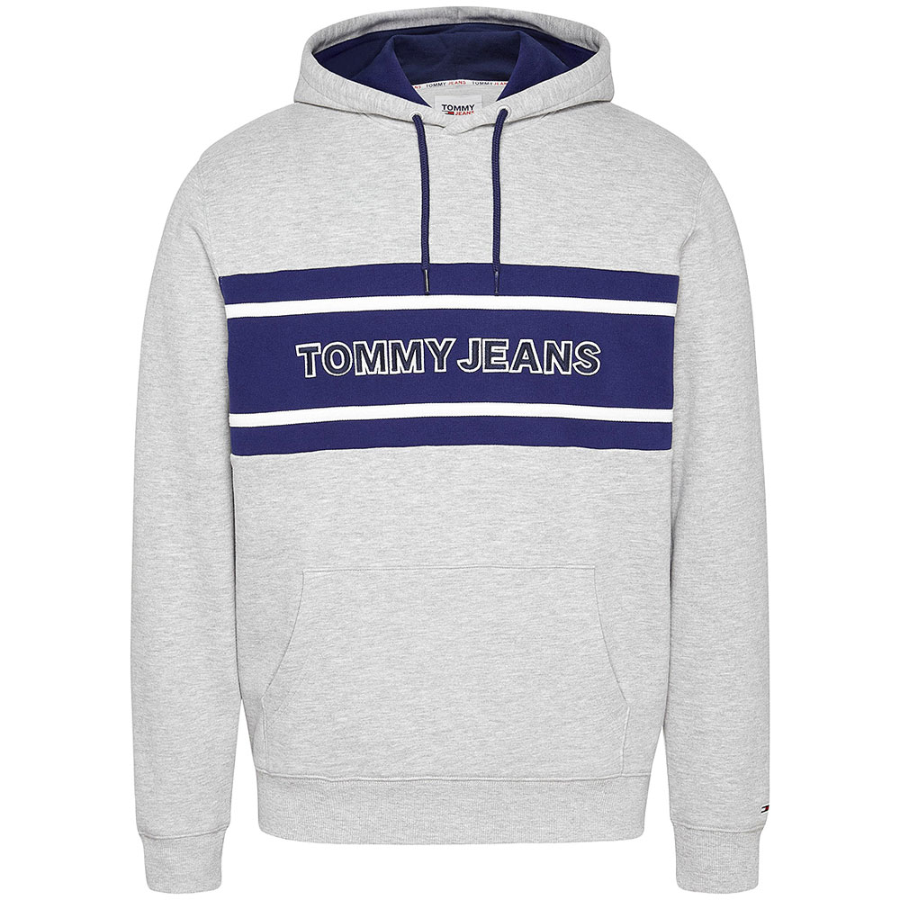 Pieced Band Logo Hoodie in Grey